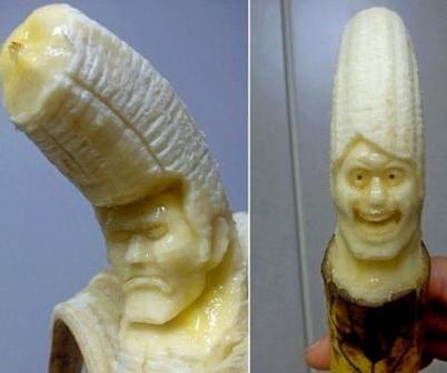Карвинг по бананам