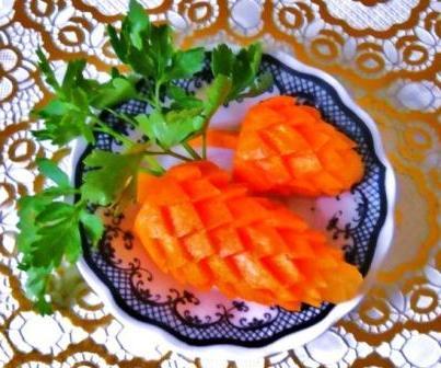 Карвинг из моркови