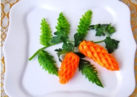 Шишки из моркови
