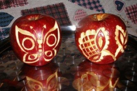 карвинг из яблок