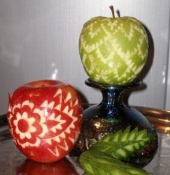 Поделка из свежего яблока 652
